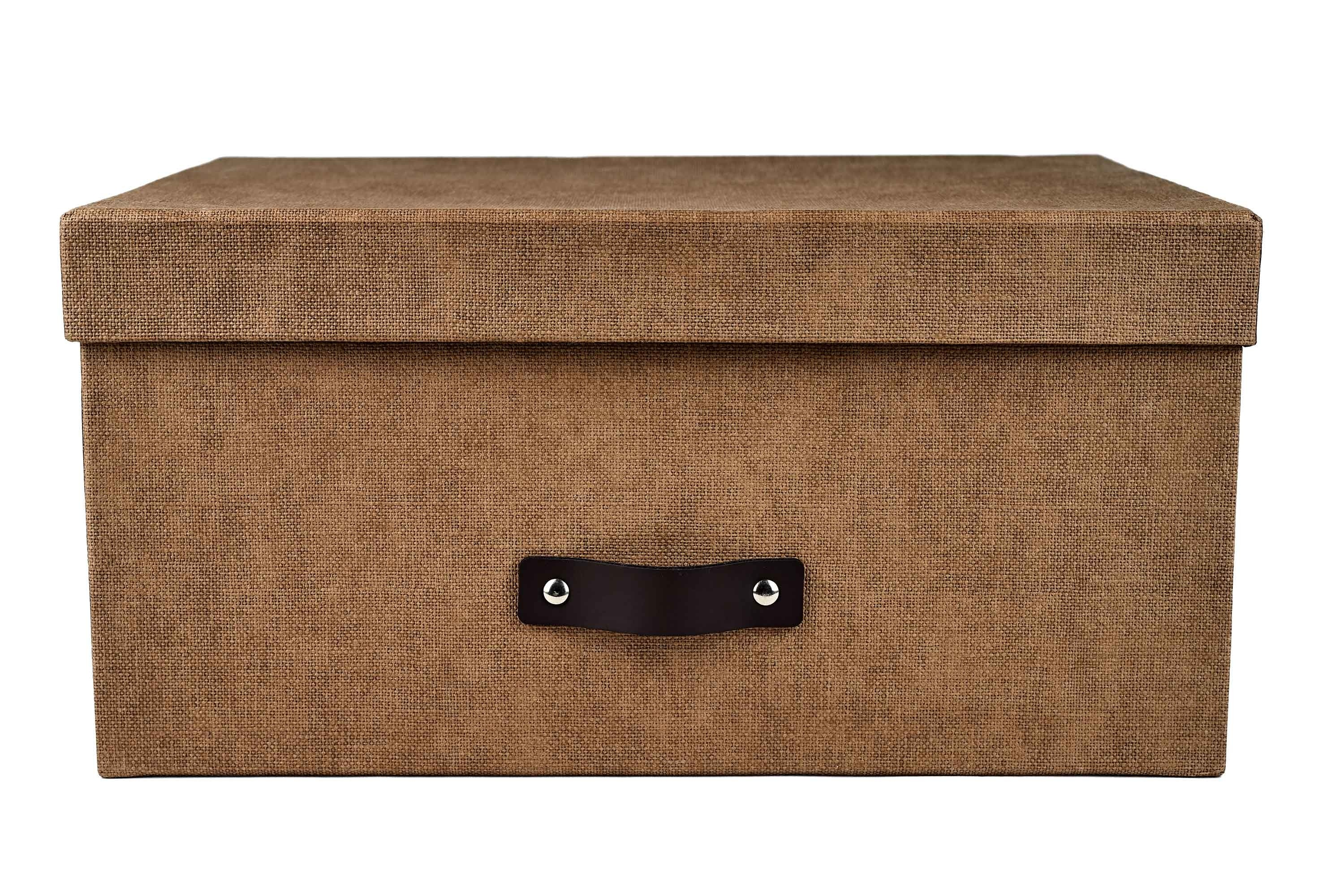 Marquee Medium Storage Box With Lid - Brown