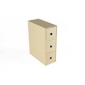 Tivoli Big Triple Drawer Box - Ivory